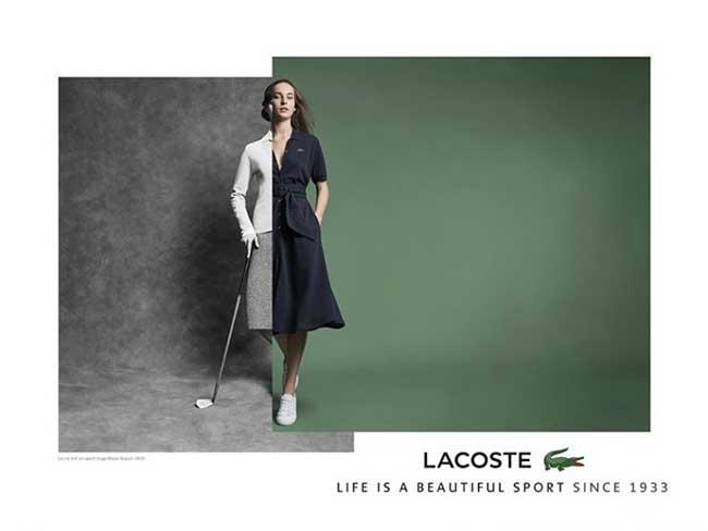 Campagne Lacoste 2017 2018, Lacoste Affiche son Élégante Histoire en Diptyque