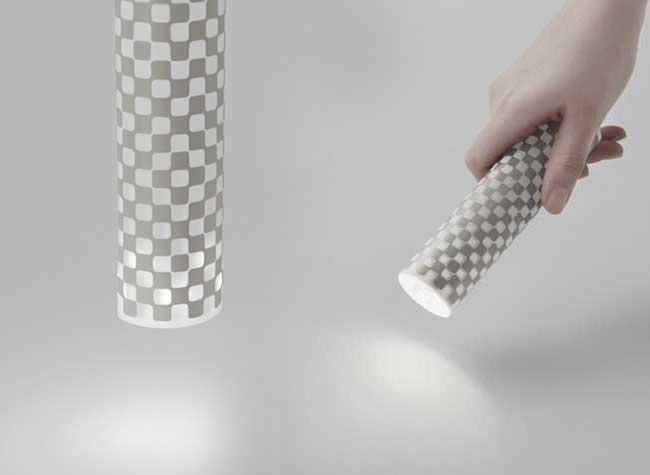 Nendo YUPO Takeao, YUPO, Rouleau de Papier LED qui se Transforme en Lampe
