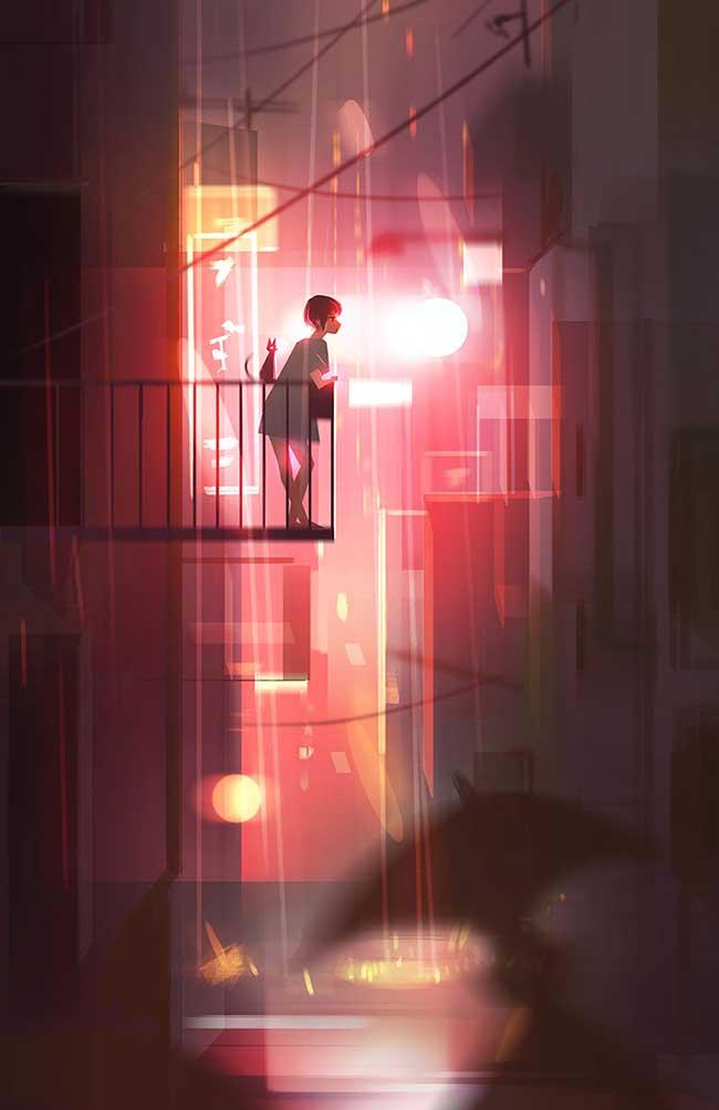 illustration jenny yu, Voyage Illustré au Pays du Bonheur entre Rêves et Réalité