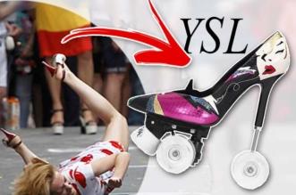 Rollers Stilletos Chaussures Saint Laurent