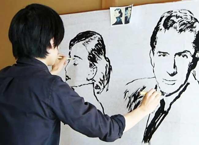 Toru Artiste Ambidextre, Ambidextre, il Dessine 2 Portraits Différents en Même Temps (video)