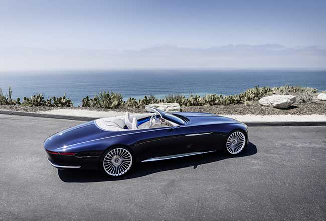 Cabriolet Vision Mercedes-Maybach 6, Vision Mercedes-Maybach 6, un Cabriolet au Design Electrique (video)