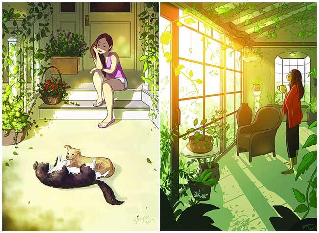 yaoyao ma van as illustrations celibataire fille, La Vie Heureuse d'une Célibataire Merveilleusement Illustrée