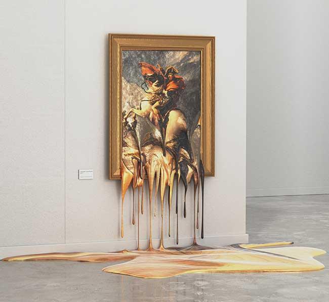 alper dostal repliques toiles maitres fondues, Quand les Oeuvres d'Art Fondent comme Neige au Soleil