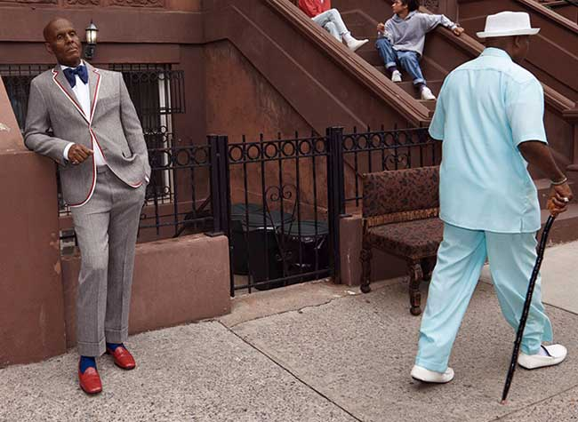Gucci Homme Costumes Campagne Hiver 2017 Dapper Dan, Les Costumes Gucci Homme Adoptent le Style Dapper Dan