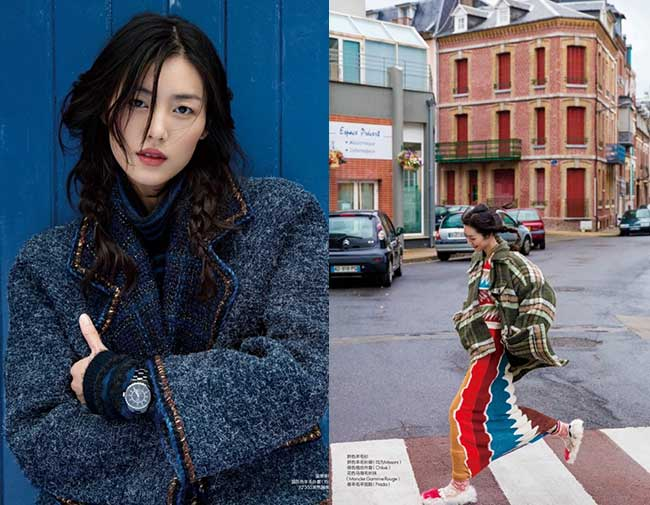 hiver 2017 tendance mode couleurs, Liu Wen Fait une Rentrée Mode Haute en Couleurs