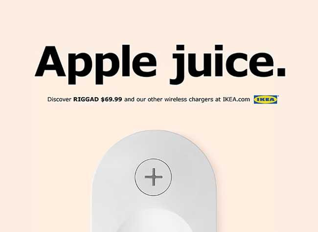 Préférence IKEA Parodie Apple pour Faire la Promo de sa Lampe RIGGAD  JE01