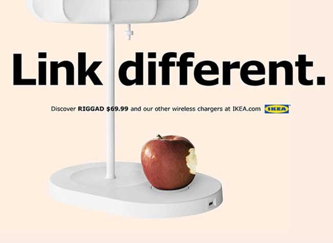 IKEA Lampe RIGGAD Campagne iPhone