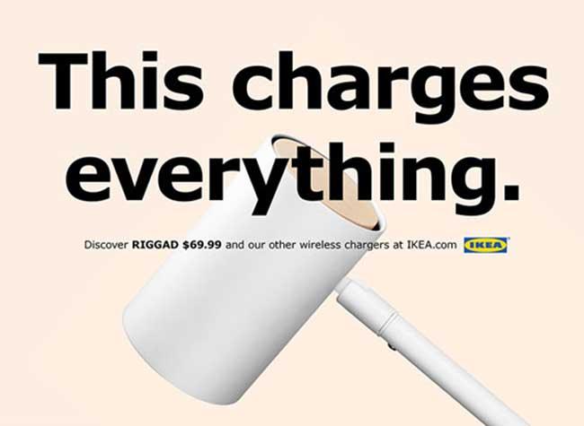IKEA Lampe RIGGAD Campagne iPhone, IKEA Parodie Apple pour Faire la Promo de sa Lampe RIGGAD