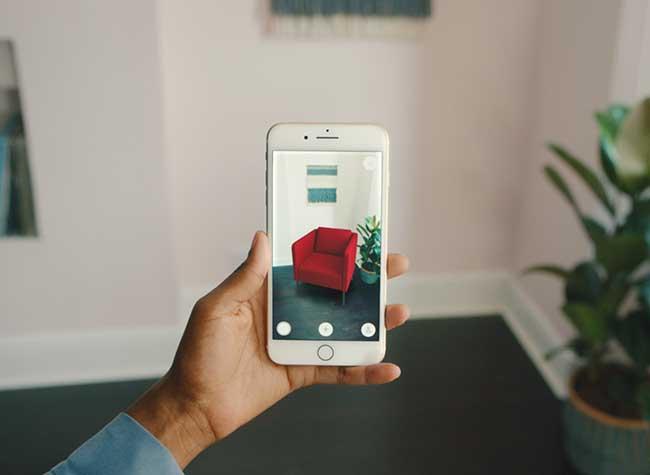 ikea place realite augumentee mobilier 3d iphone 3 - Essayer Virtuellement le Mobilier IKEA chez vous avec l'iPhone (video)