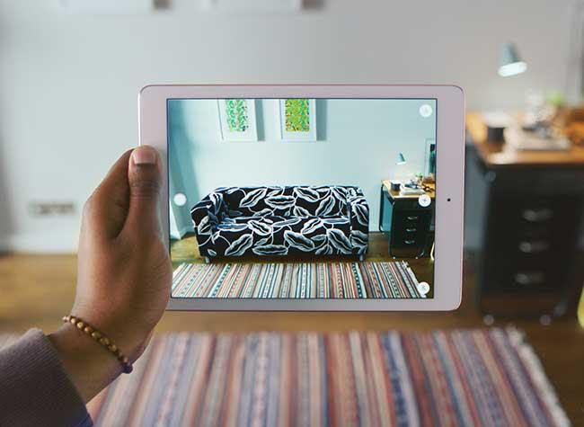 ikea place realite augumentee mobilier 3d iphone 5 - Essayer Virtuellement le Mobilier IKEA chez vous avec l'iPhone (video)