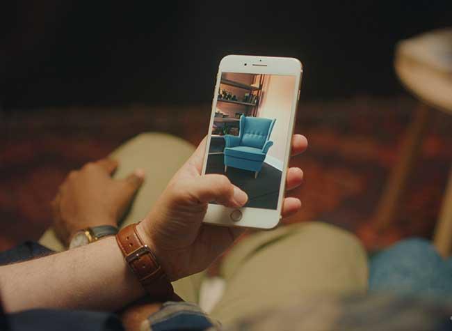 ikea place realite augumentee mobilier 3d iphone 6 - Essayer Virtuellement le Mobilier IKEA chez vous avec l'iPhone (video)