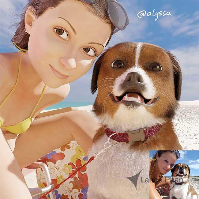 illustration personnages BD lance phan, Il Transforme votre Portrait en Personnage 3D au Style Disney Pixar