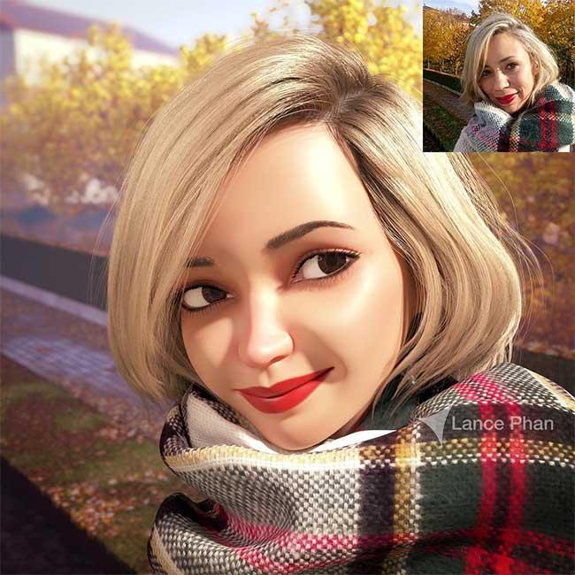 lance phan artiste transforme photo personnage 3d pixar 7 - Il Transforme votre Portrait en Personnage 3D au Style Disney Pixar
