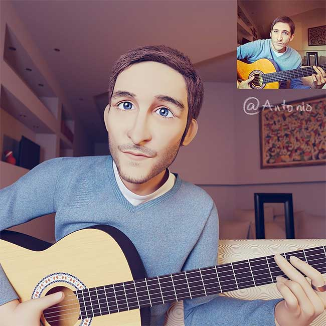 lance phan artiste transforme photo personnage 3d pixar 9 - Il Transforme votre Portrait en Personnage 3D au Style Disney Pixar