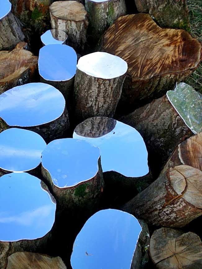 lee borthwick miroir installation art bois 1 - Des Miroirs dans les Bois pour une Installation Artistique