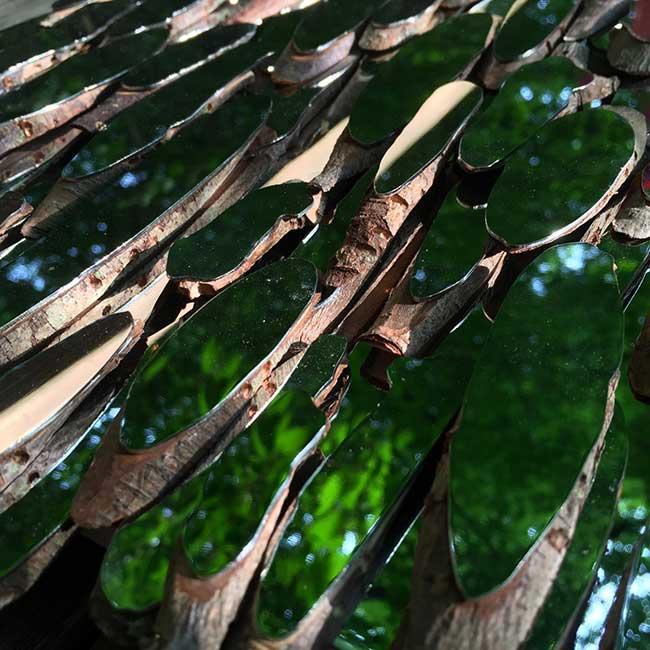 lee borthwick miroir installation art bois 4 - Des Miroirs dans les Bois pour une Installation Artistique