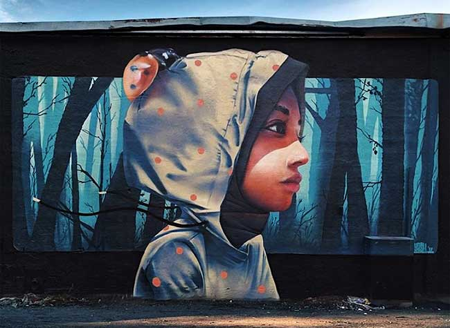 YASH Linus Lundin Street Art, YASH, le Street Artiste aux Fresques Urbaines Impressionnantes