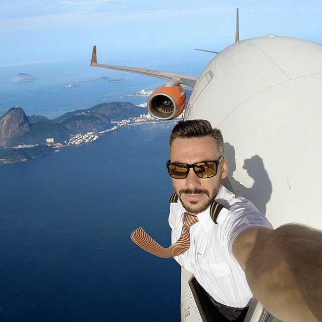 PilotGanso Selfies Pilote Avion