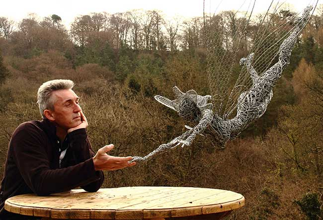 Sculptures fil fer Robin Wight, Enchanteresses Sculptures de Fées en Fil de Fer