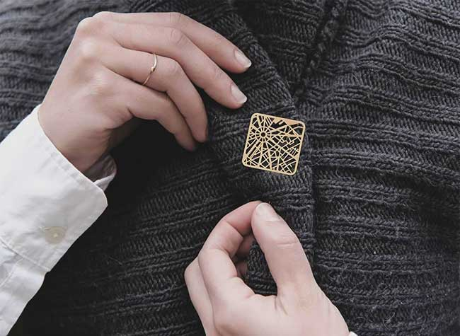 bijoux plans villes taliasari, Les Plans des Villes Transformés en Bijoux Uniques et Délicats