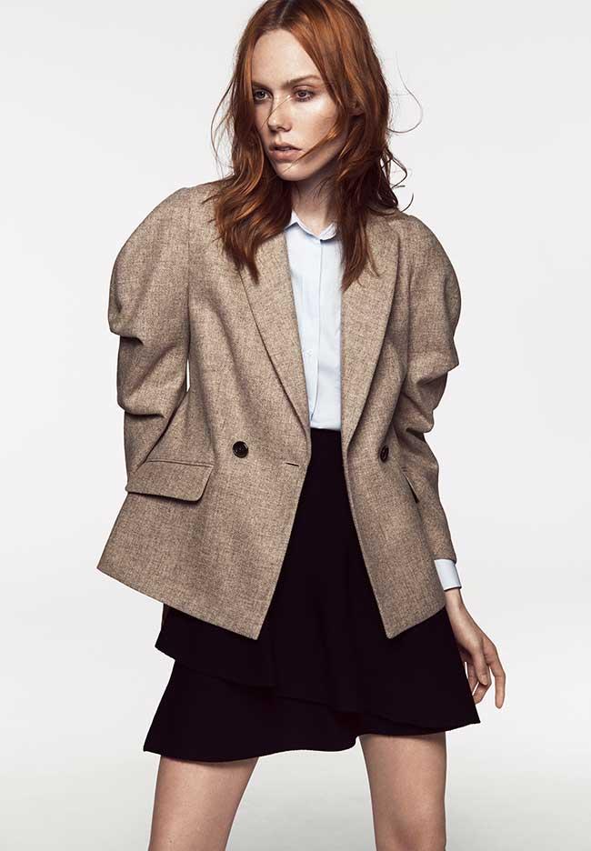 nouvelle arrivee 007ec 49504 Chez Zara Femme les Blazers se Font Chics et Cozy pour l ...