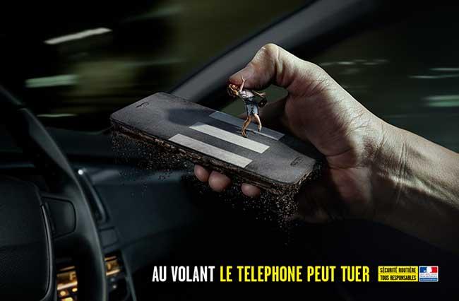 campagne securite routiere volant telephone peut tuer 2 - Au Volant, le Téléphone c'est Mortel comme dans cette Campagne