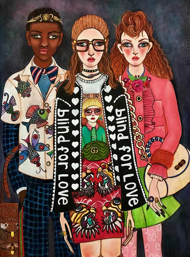 collection illustration gucci unskilled worker
