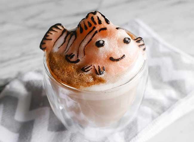 cafe latte art sculptures 3d daphne tan
