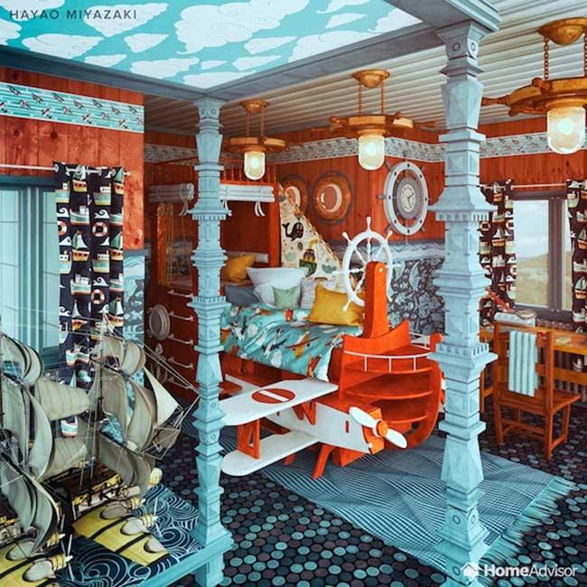 decoration chambre coucher film cinema decor 6 - 7 Décorations de Chambres à Coucher Inspirées de Films Cultes