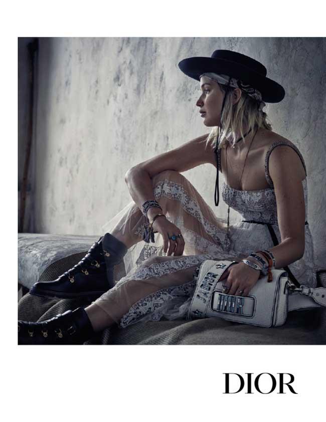 dior croisière cruise 2018 jennifer lawrence, Pour Dior Cruise Jennifer Lawrence Joue l'Aventurière du Désert