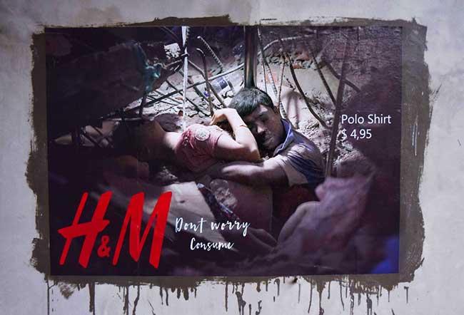 igor dobrowolski detournement pub zara hm street art 2 - Vraies Fausses Pubs Zara et H&M pour Dénoncer leurs Manques d'Ethique
