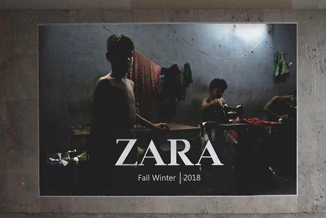 igor dobrowolski detournement pub zara hm street art 4 - Vraies Fausses Pubs Zara et H&M pour Dénoncer leurs Manques d'Ethique