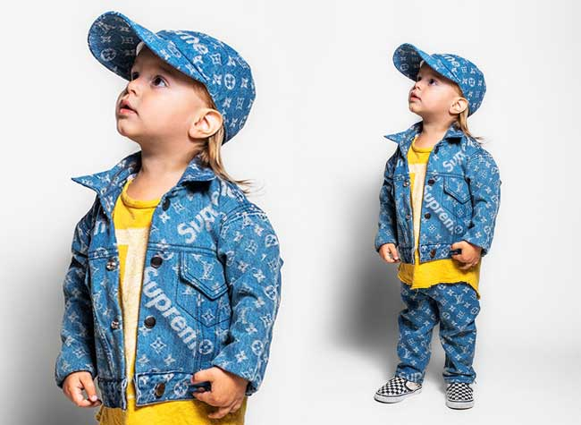 Louis Vuitton x Supreme Kids Enfants