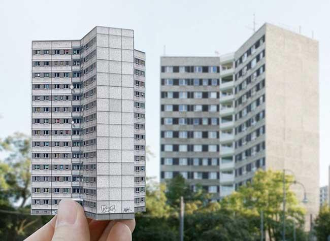 maquette-livre-architecture-brutalisme-allemagne-zupagrafika, Avec ces Bâtiments en Carton Mettez un Peu de Brutalisme dans votre Salon