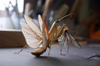 noriyuki saitoh sculptures insectes bambou 1 331x219 - Il Sculpte en Bambou d'Etonnants Insectes Grandeur Nature