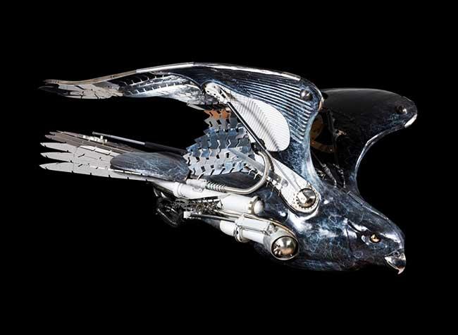 Pierre Matter Sculpture Metal, Spectaculaires Sculptures d'Animaux Sauvages en Métal Recyclé