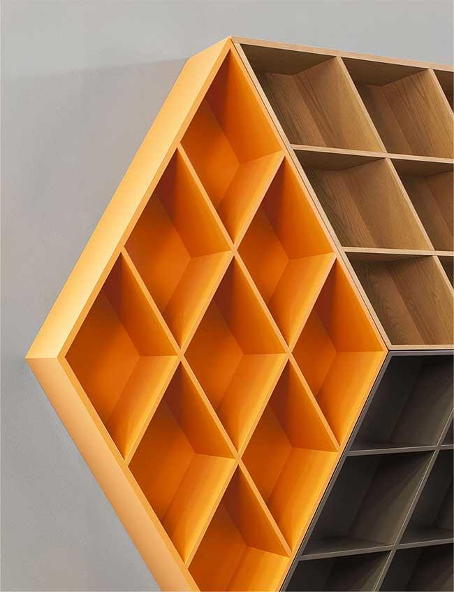 George Bosnas Bibliotheque Rubiks Cube Rubika Bookcase