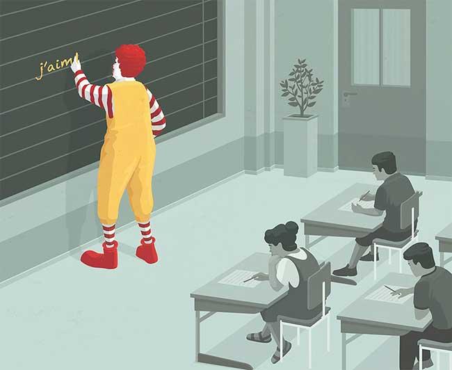 stephan schmitz illustrations minimaliste satirique 1 - Illustrations Minimalistes d'un Monde Déconnecté de la Vie