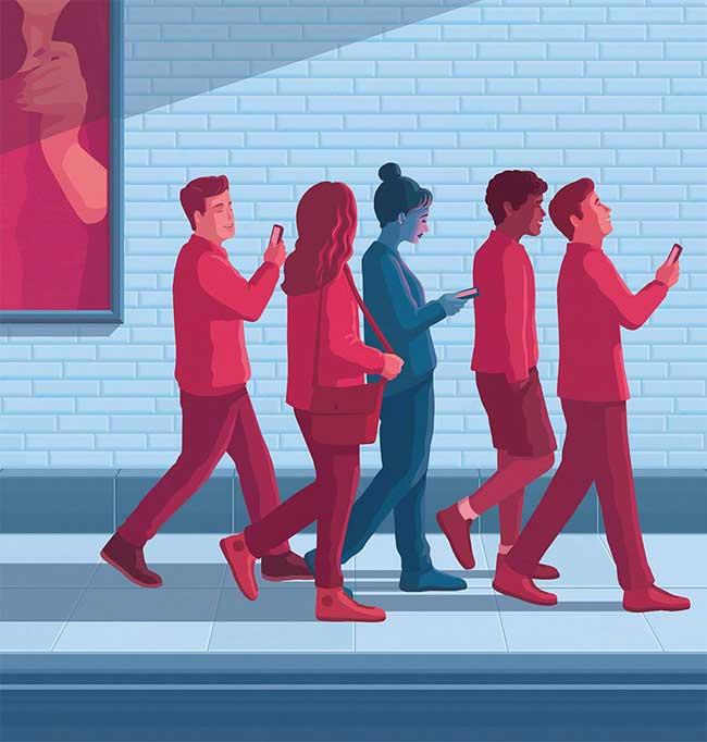 stephan schmitz illustrations minimaliste satirique 4 - Illustrations Minimalistes d'un Monde Déconnecté de la Vie