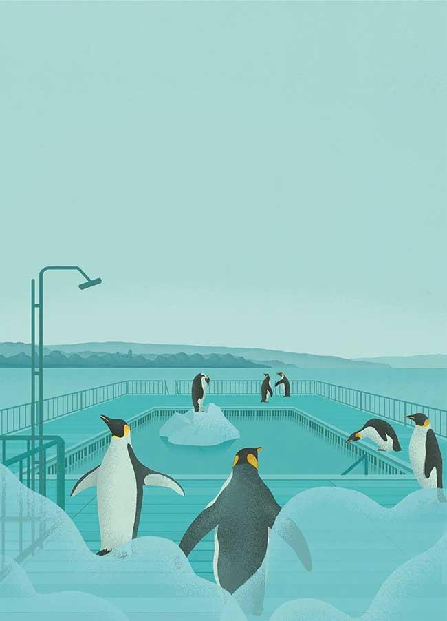 stephan schmitz illustrations minimaliste satirique 6 - Illustrations Minimalistes d'un Monde Déconnecté de la Vie