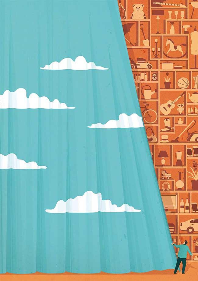 stephan schmitz illustrations minimaliste satirique 8 - Illustrations Minimalistes d'un Monde Déconnecté de la Vie