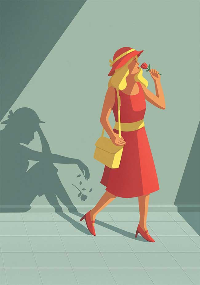 stephan schmitz illustrations minimaliste satirique 9 - Illustrations Minimalistes d'un Monde Déconnecté de la Vie
