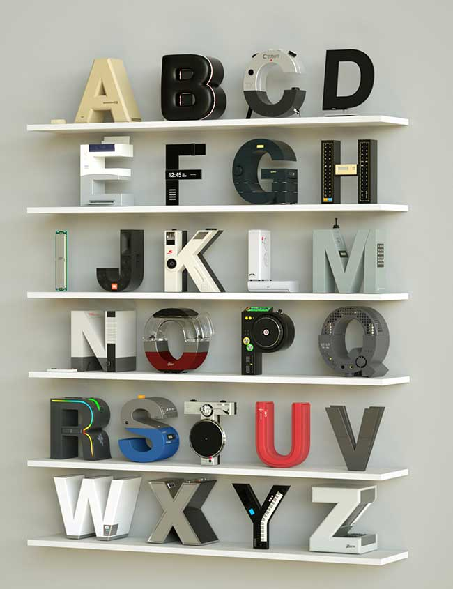 Vinicius Araújo Alphabet Gadget 3D