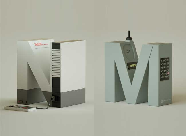 Vinicius Araújo Alphabet Gadget 3D, Les Iconiques Gadgets High-Tech Transformés en Alphabet Deco