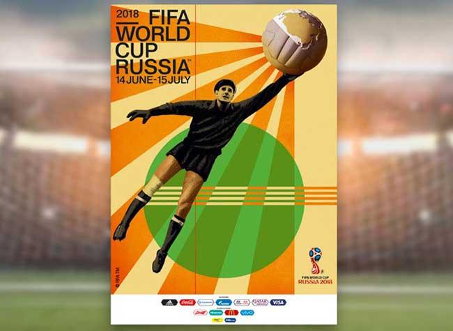 Affiche Coupe du Monde 2018, La Coupe du Monde 2018 en Russie Fait sa Propagande