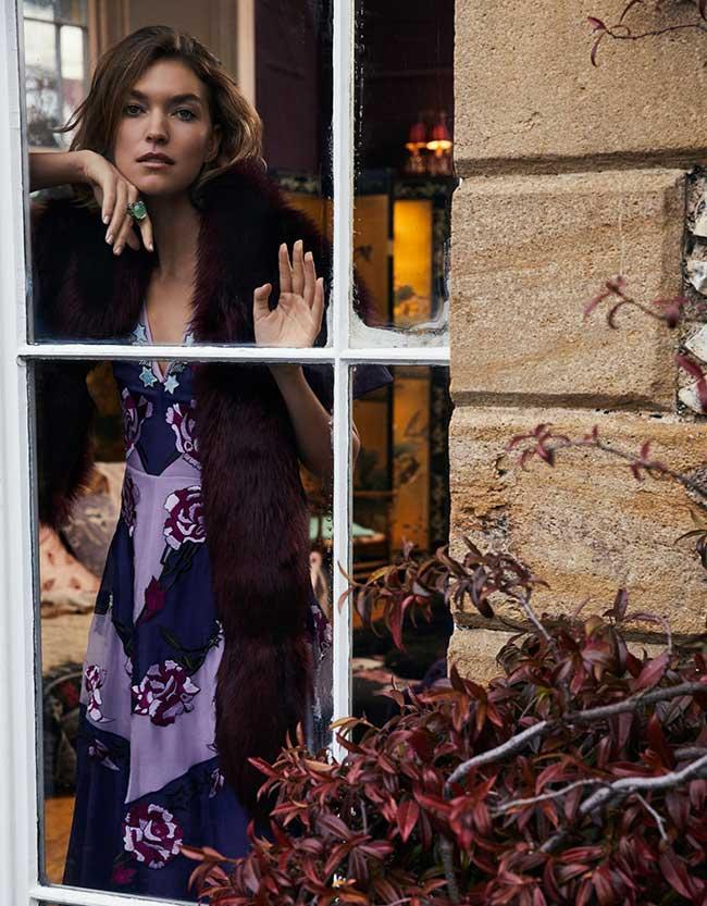 arizona muse couverture magazine grazia italie, Arizona Muse Chic et Cosy pour Grazia italy