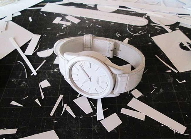 art papier montres manabu kosaka, Il Fabrique des Montres en Papier plus Vraies que Nature
