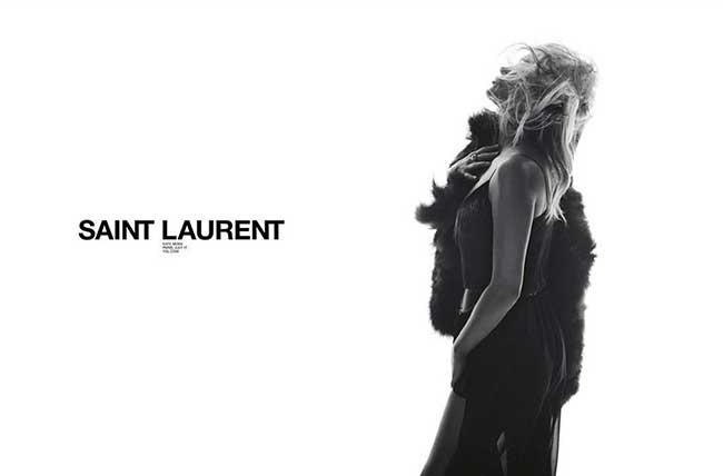 Campagne Saint Laurent Ete 2018, Kate Moss en Campagne pour Saint Laurent Ete 2018