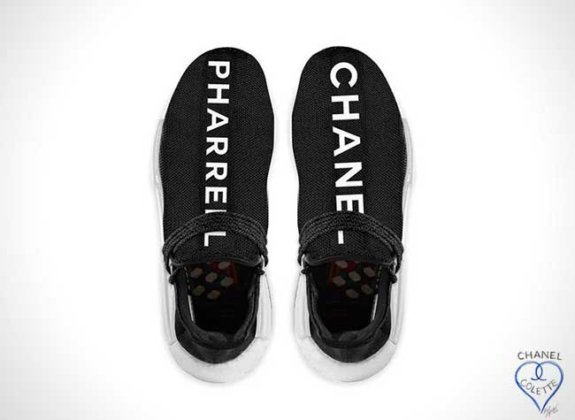 Baskets Chanel Pharrell Williams Adidas, Chics les Baskets Chanel Pharrell Williams et Adidas